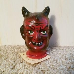 Ino Schaller Small Devil Satan Head Container NWT